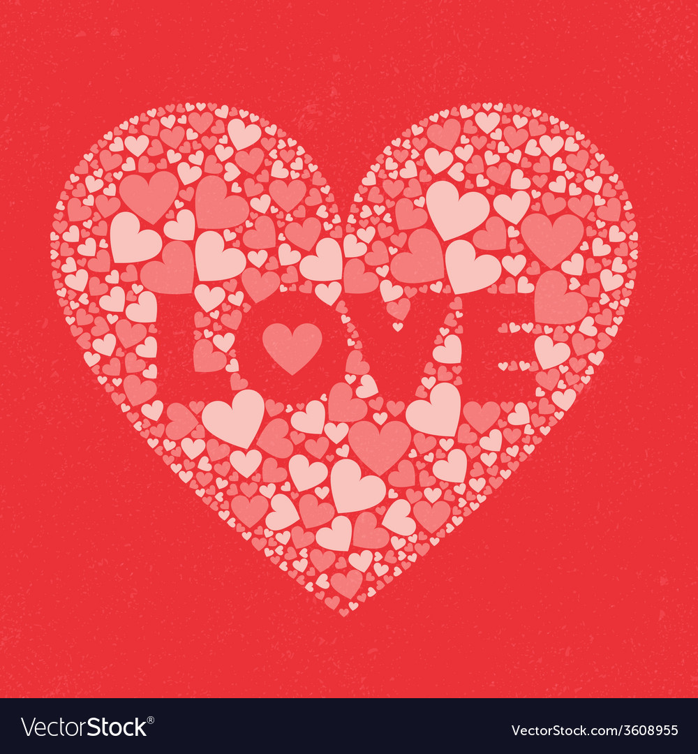 Love valentines day card vector | Price: 1 Credit (USD $1)