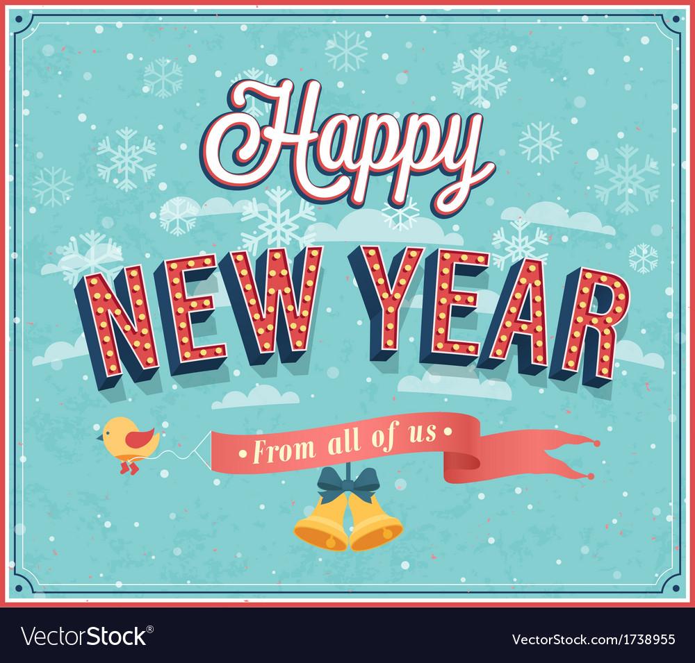 New year typographic design vector | Price: 1 Credit (USD $1)