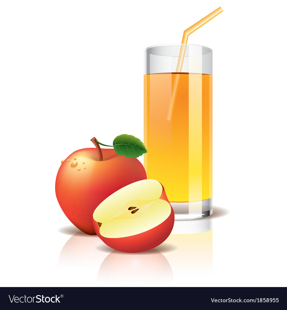 Object apple juice vector | Price: 1 Credit (USD $1)