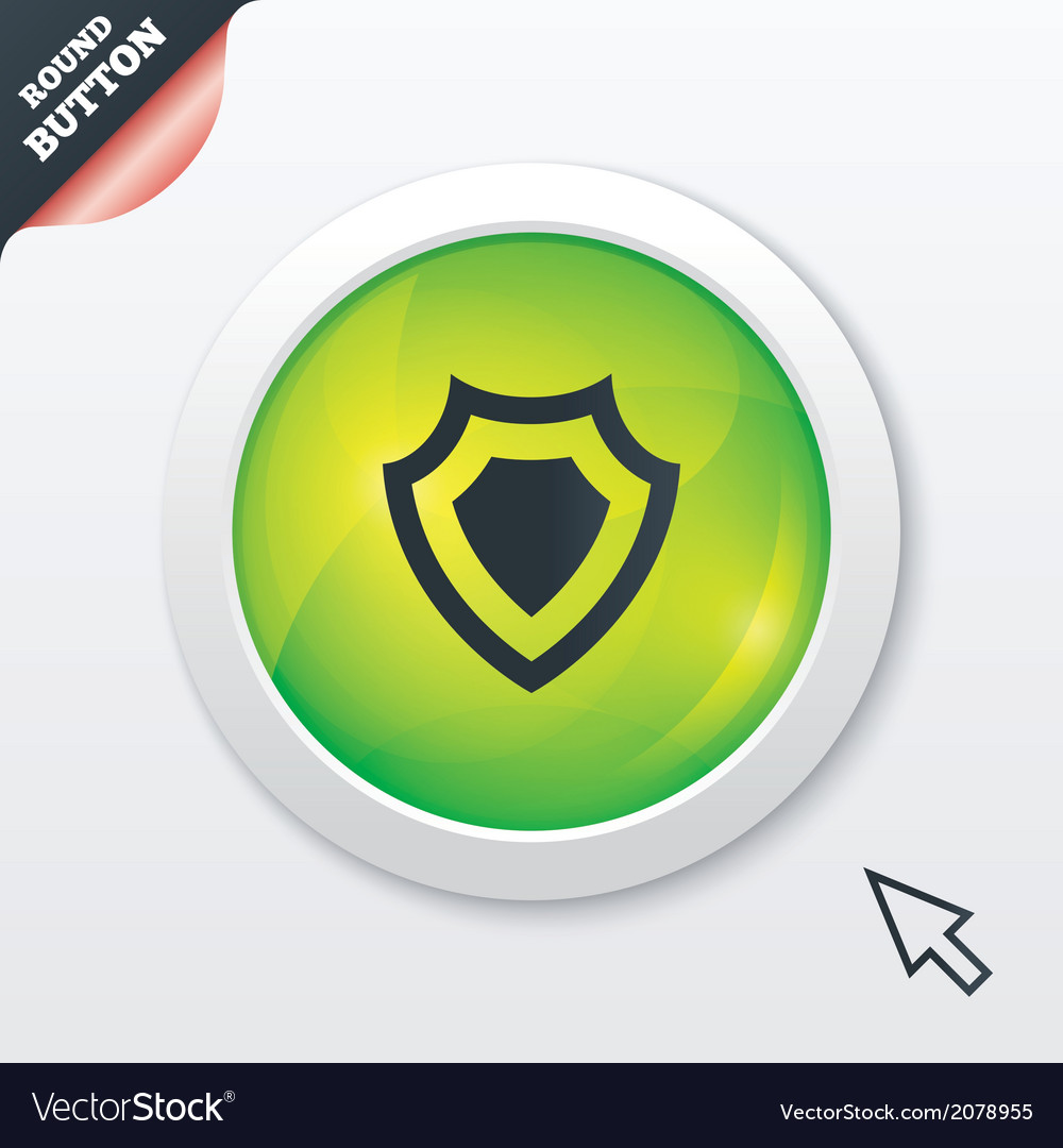 Shield sign icon protection symbol vector | Price: 1 Credit (USD $1)