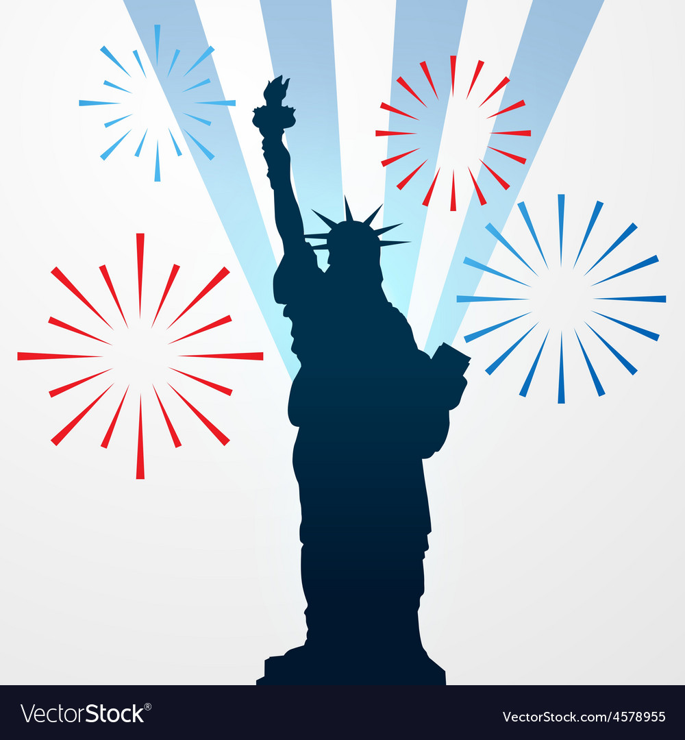 Statue of liberty shullouette vector | Price: 1 Credit (USD $1)