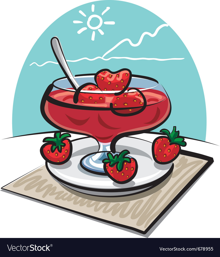 Strawberries jam vector | Price: 3 Credit (USD $3)