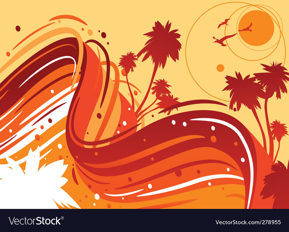 Tropical sun vector | Price: 1 Credit (USD $1)