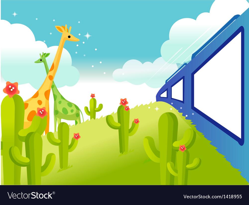 Wildlife safari vector | Price: 1 Credit (USD $1)
