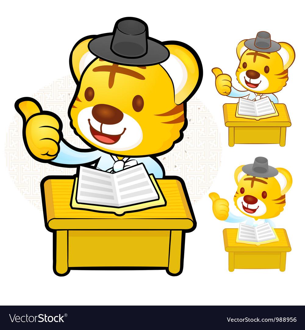 A study of apparel korea tiger vector   Price: 3 Credit (USD $3)