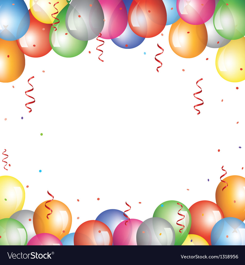 Balloon border vector | Price: 1 Credit (USD $1)
