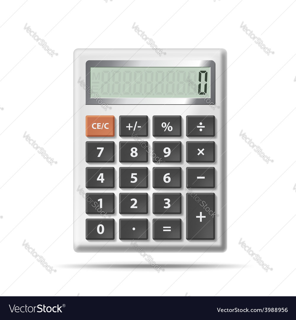 Calculator isolated on white background vector | Price: 1 Credit (USD $1)
