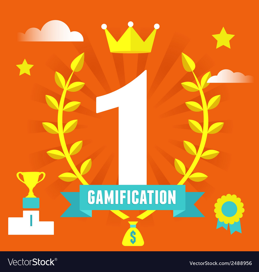 Concept of gamification concept and business vector | Price: 1 Credit (USD $1)