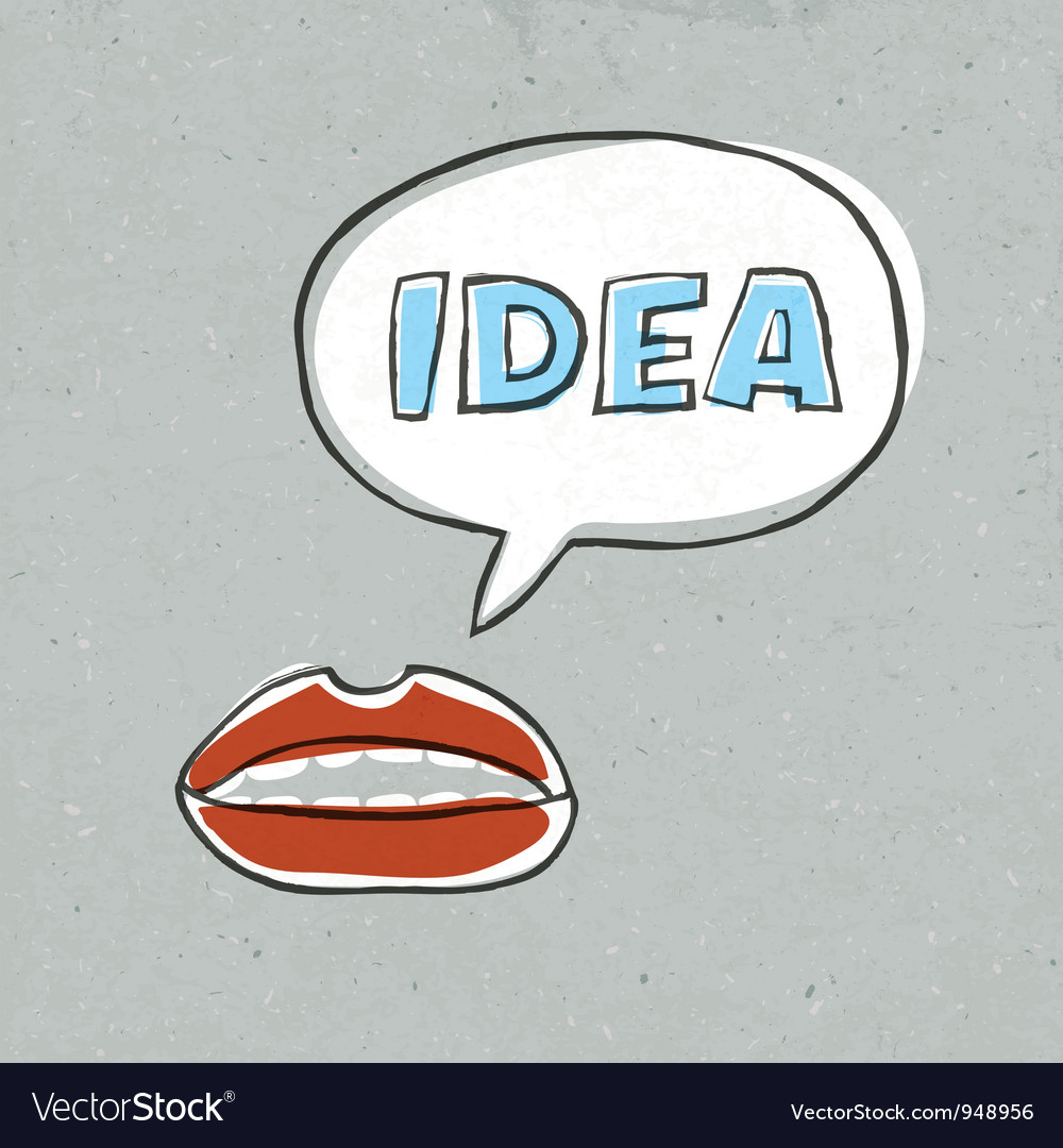 Lips talk idea word vector | Price: 1 Credit (USD $1)
