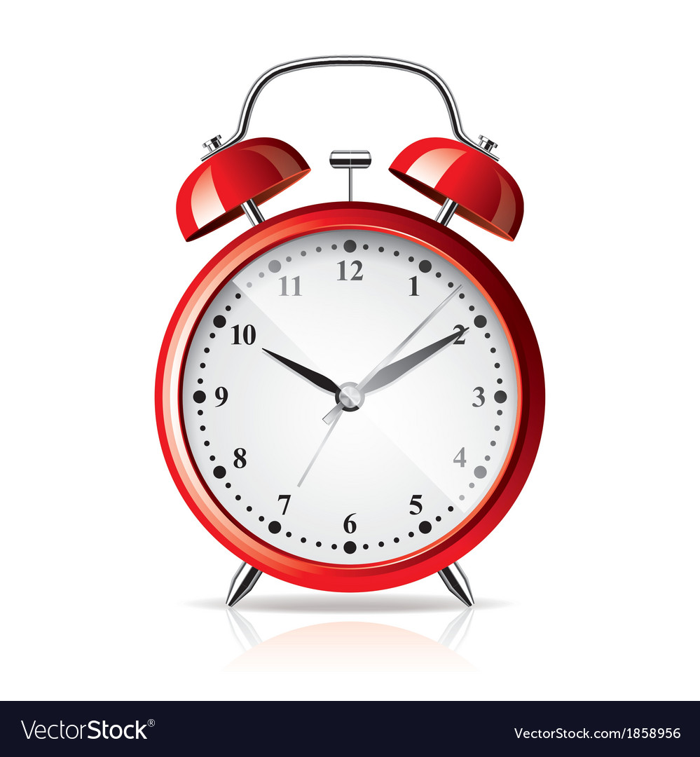 Object alarm clock vector | Price: 1 Credit (USD $1)