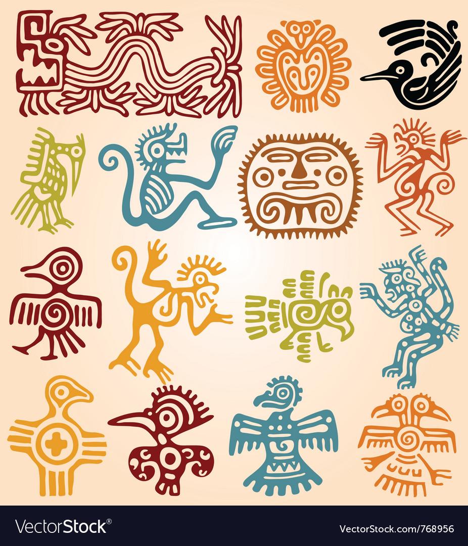 Set - mexican symbols vector | Price: 1 Credit (USD $1)