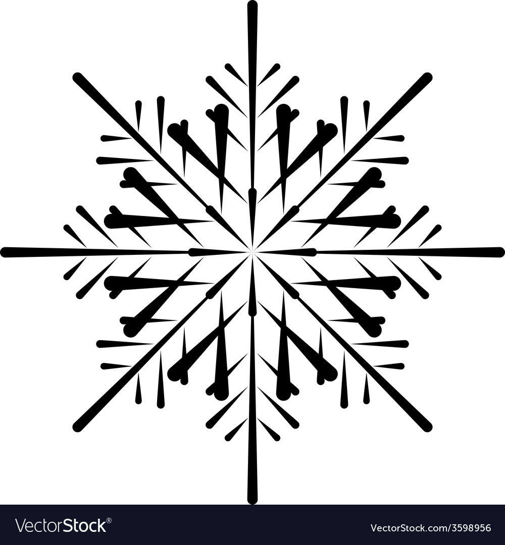 Snowflake silhouette vector | Price: 1 Credit (USD $1)