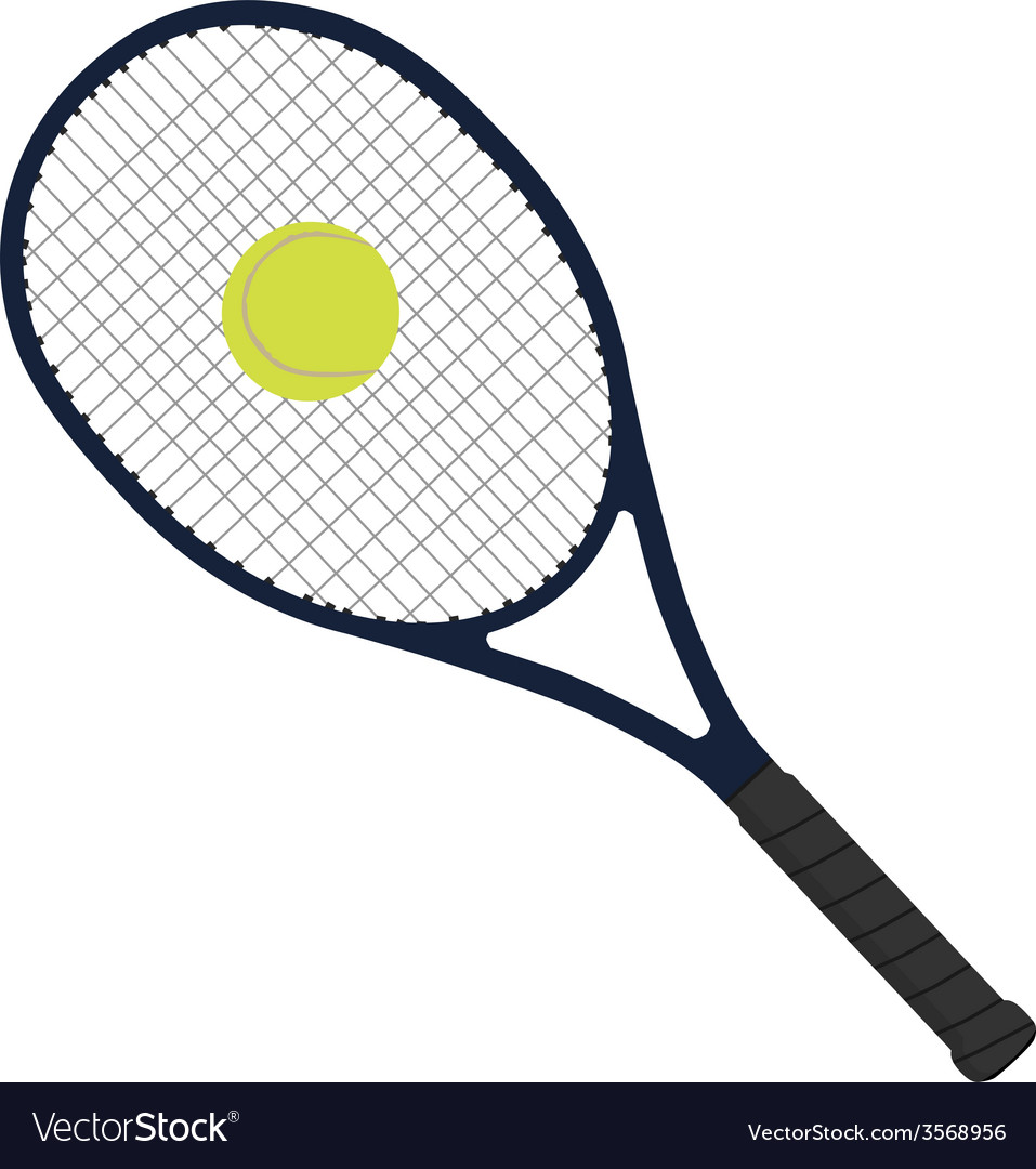 Tennis racket with tennis ball vector | Price: 1 Credit (USD $1)