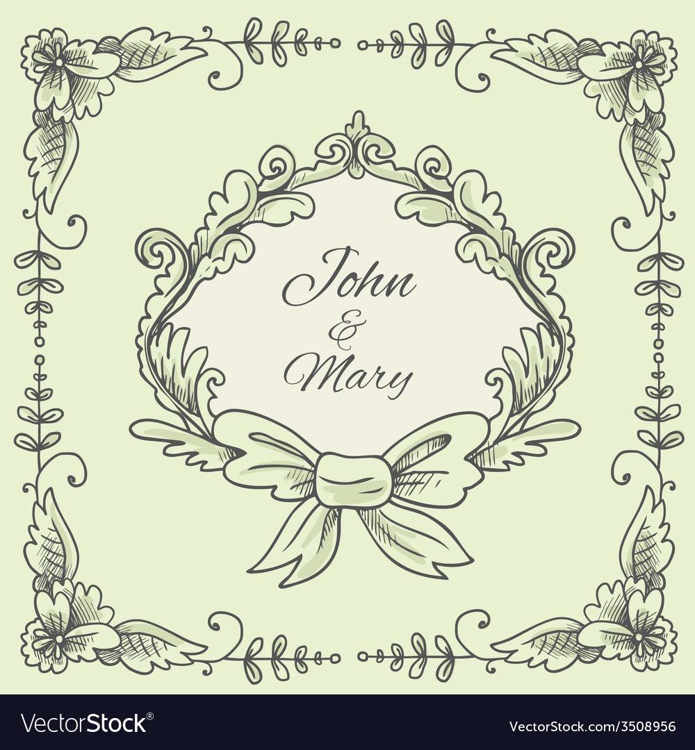 Wedding wreath sketch vector | Price: 1 Credit (USD $1)