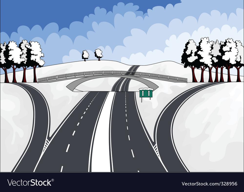 Winter landscape vector   Price: 1 Credit (USD $1)
