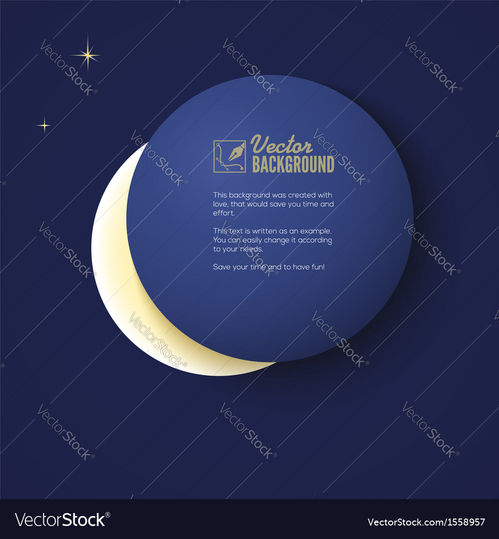 Eclipse of the moon background for your vector | Price: 1 Credit (USD $1)