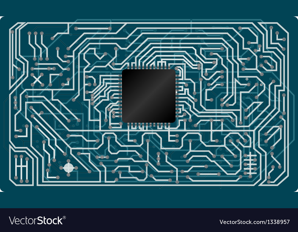 Electronic circuit board vector | Price: 1 Credit (USD $1)