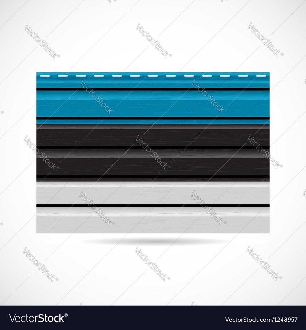 Estonia siding produce company icon vector | Price: 1 Credit (USD $1)