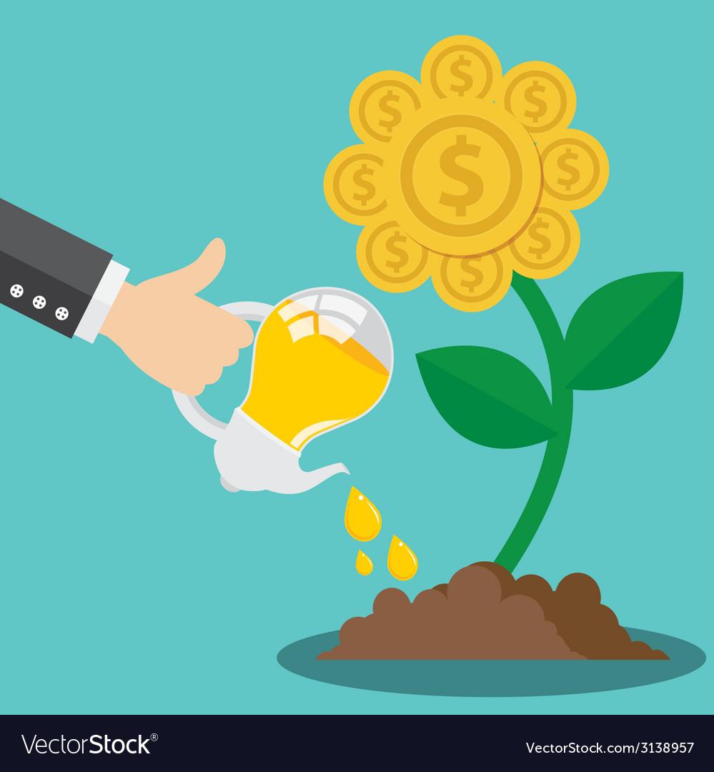 Financial growth form idea concept vector | Price: 1 Credit (USD $1)