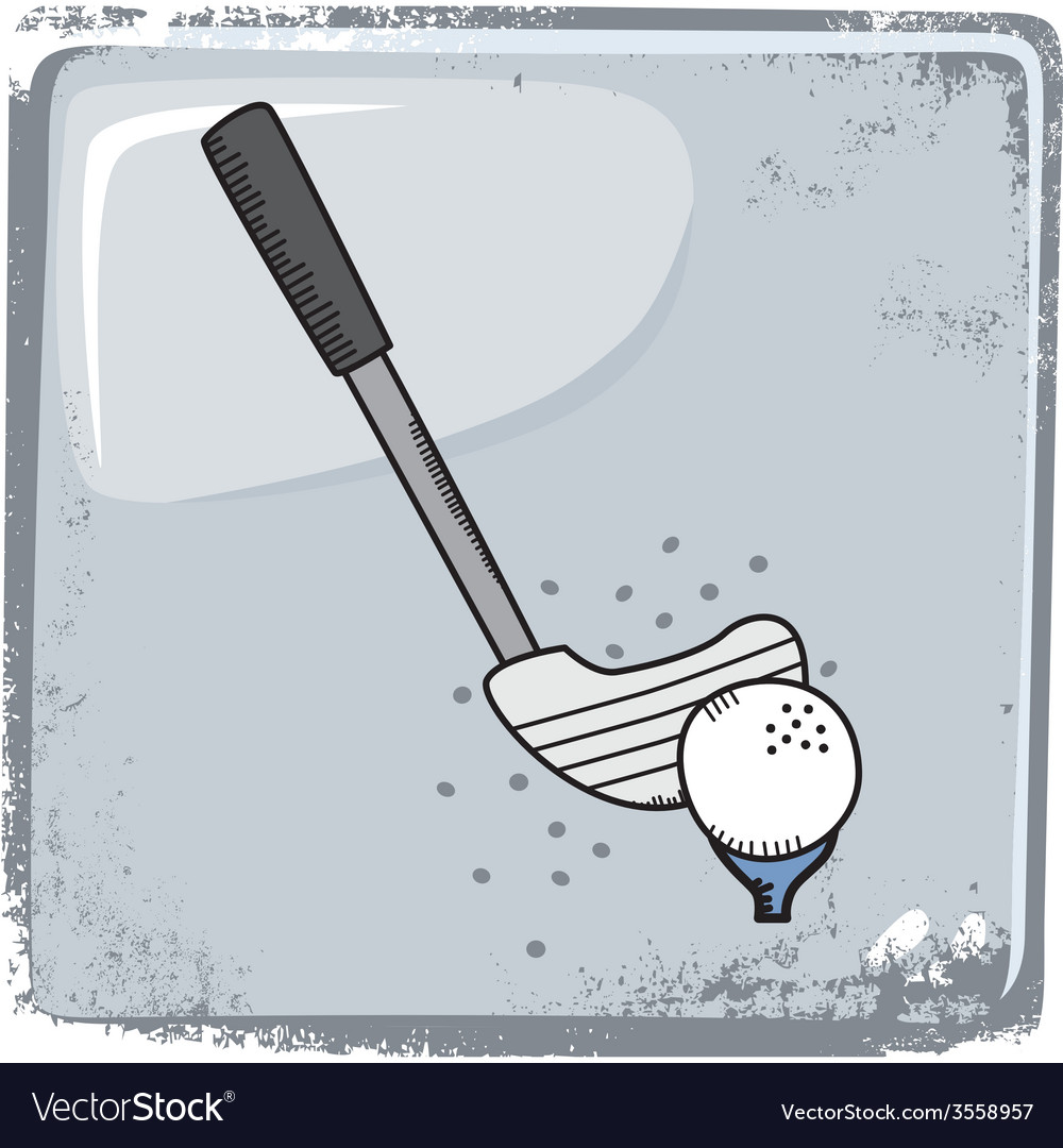 Golf sports theme vector | Price: 1 Credit (USD $1)