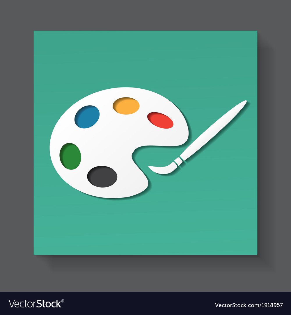 Palette and paintbrush vector | Price: 1 Credit (USD $1)