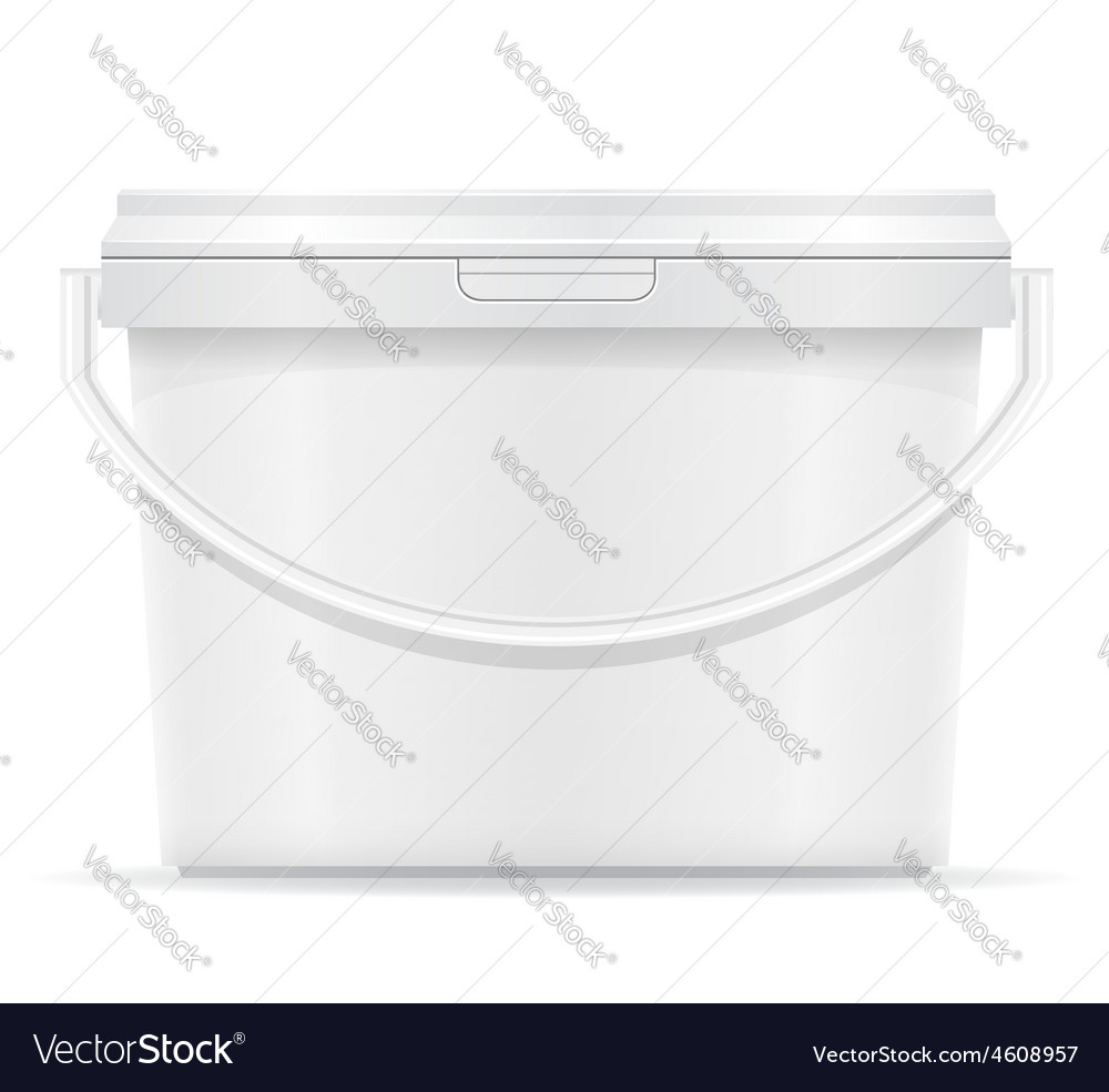 Plastic bucket for paint 06 vector | Price: 3 Credit (USD $3)