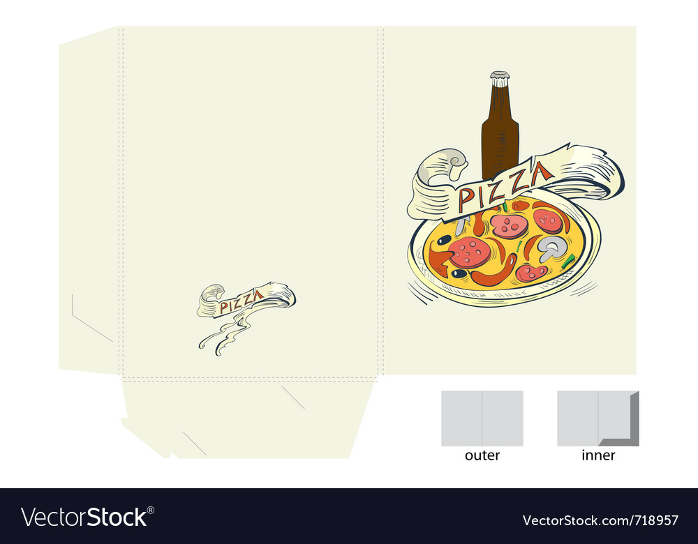 Template for folder with pizza vector | Price: 1 Credit (USD $1)