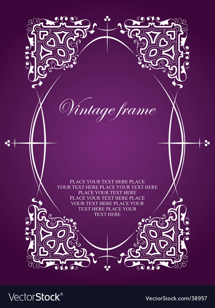 Vintage frame style vector | Price: 1 Credit (USD $1)