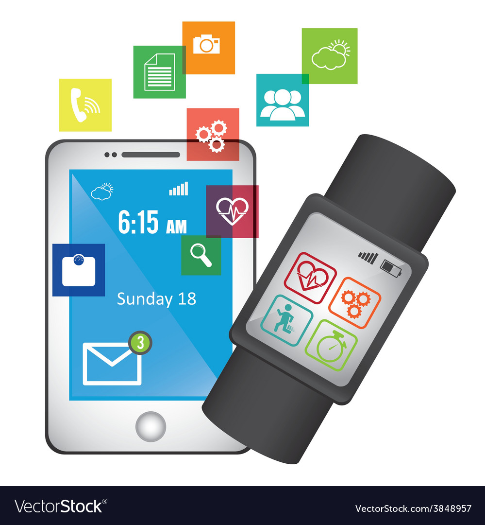 Wearable technology vector   Price: 1 Credit (USD $1)