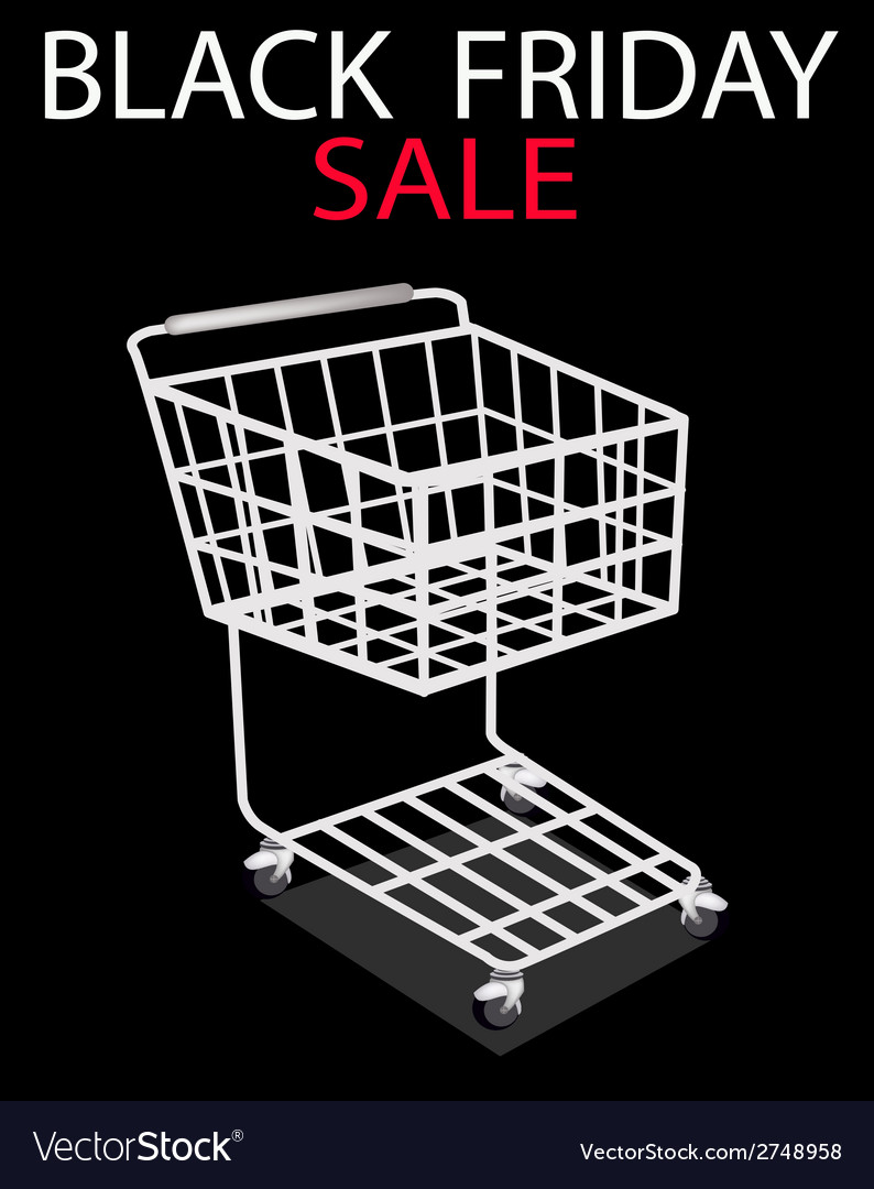 A shopping cart on black friday promotion vector | Price: 1 Credit (USD $1)