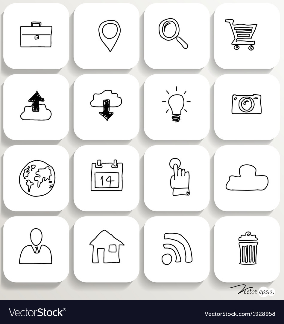 Application icons design set 1 vector | Price: 1 Credit (USD $1)