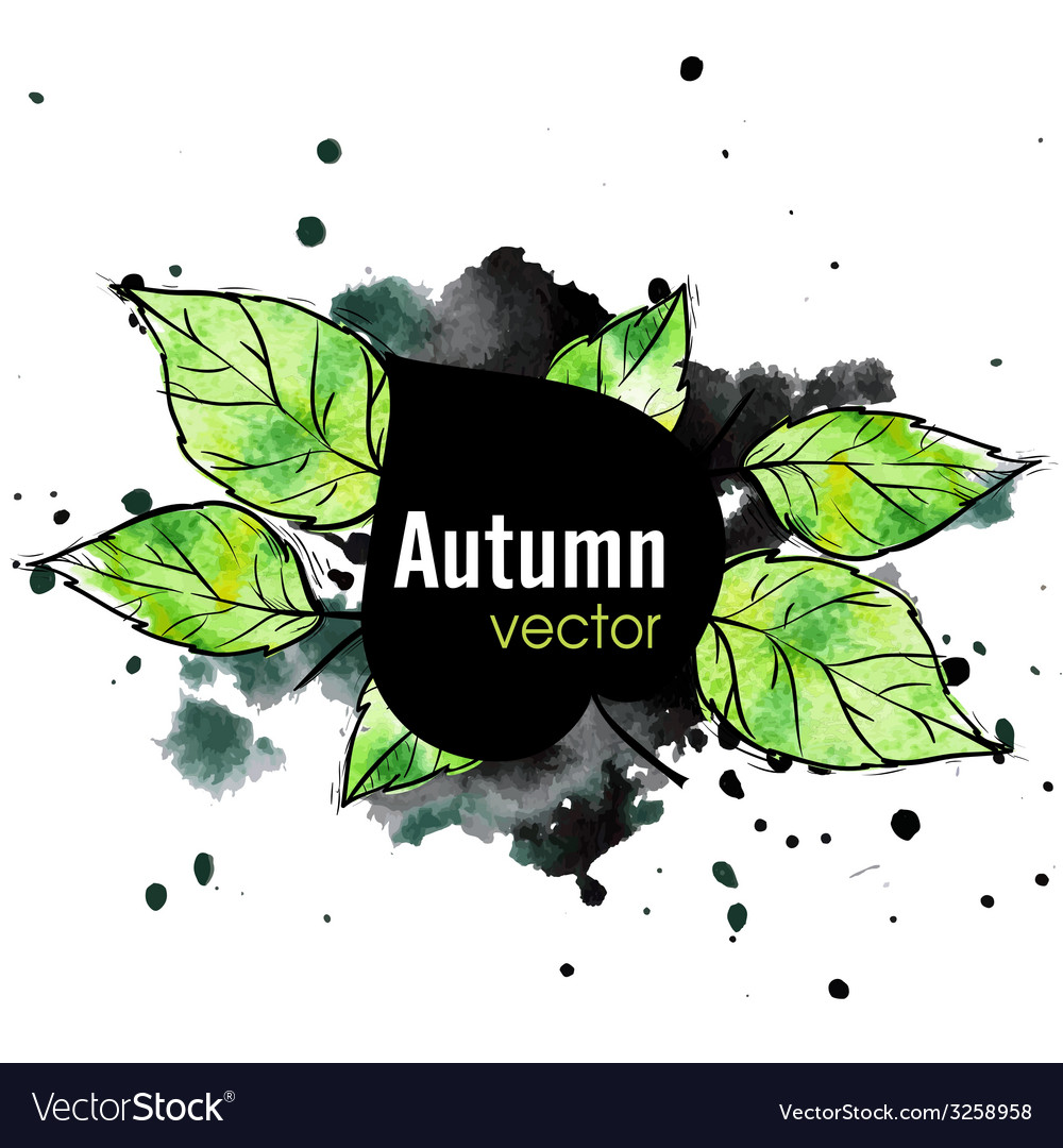 Autumn leaf background vector | Price: 1 Credit (USD $1)
