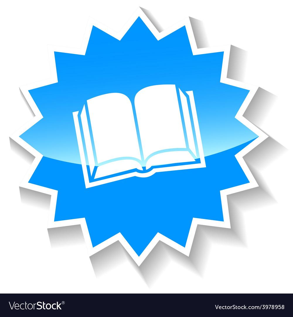 Book blue icon vector   Price: 1 Credit (USD $1)