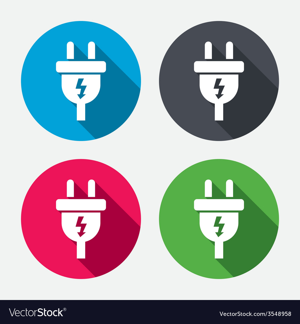 Electric plug sign icon power energy symbol vector | Price: 1 Credit (USD $1)