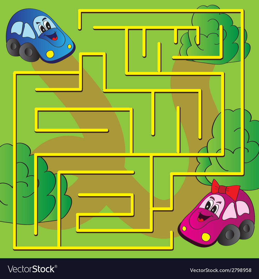 Maze game vector | Price: 1 Credit (USD $1)