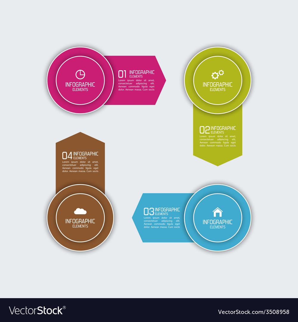 Modern template with colorful volume elements of vector | Price: 1 Credit (USD $1)
