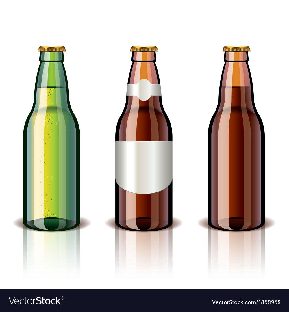 Object beer bottles vector | Price: 1 Credit (USD $1)