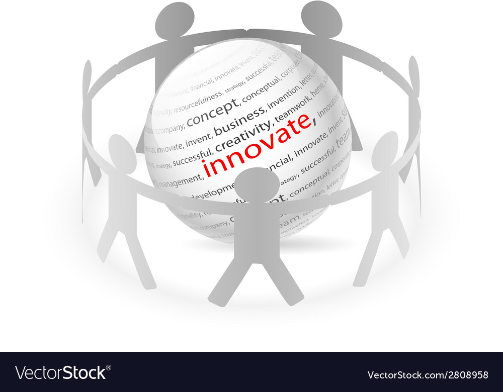 People chain innovate vector | Price: 1 Credit (USD $1)