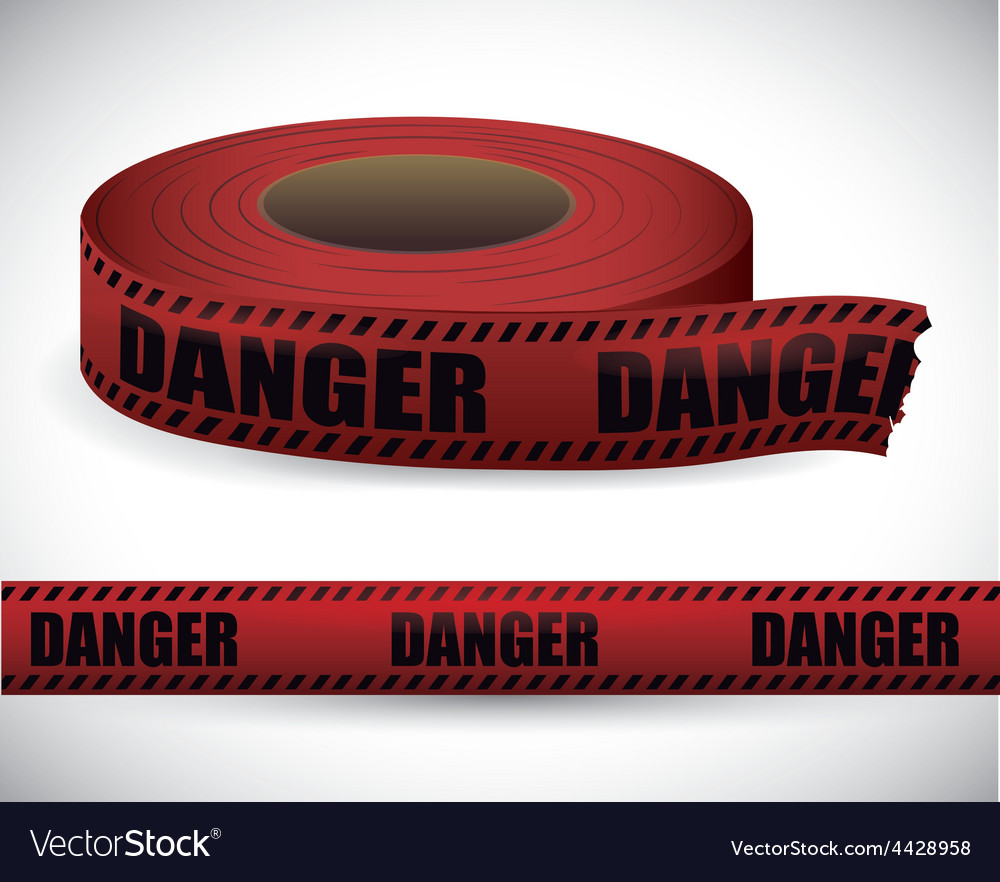 Red tape design vector | Price: 1 Credit (USD $1)