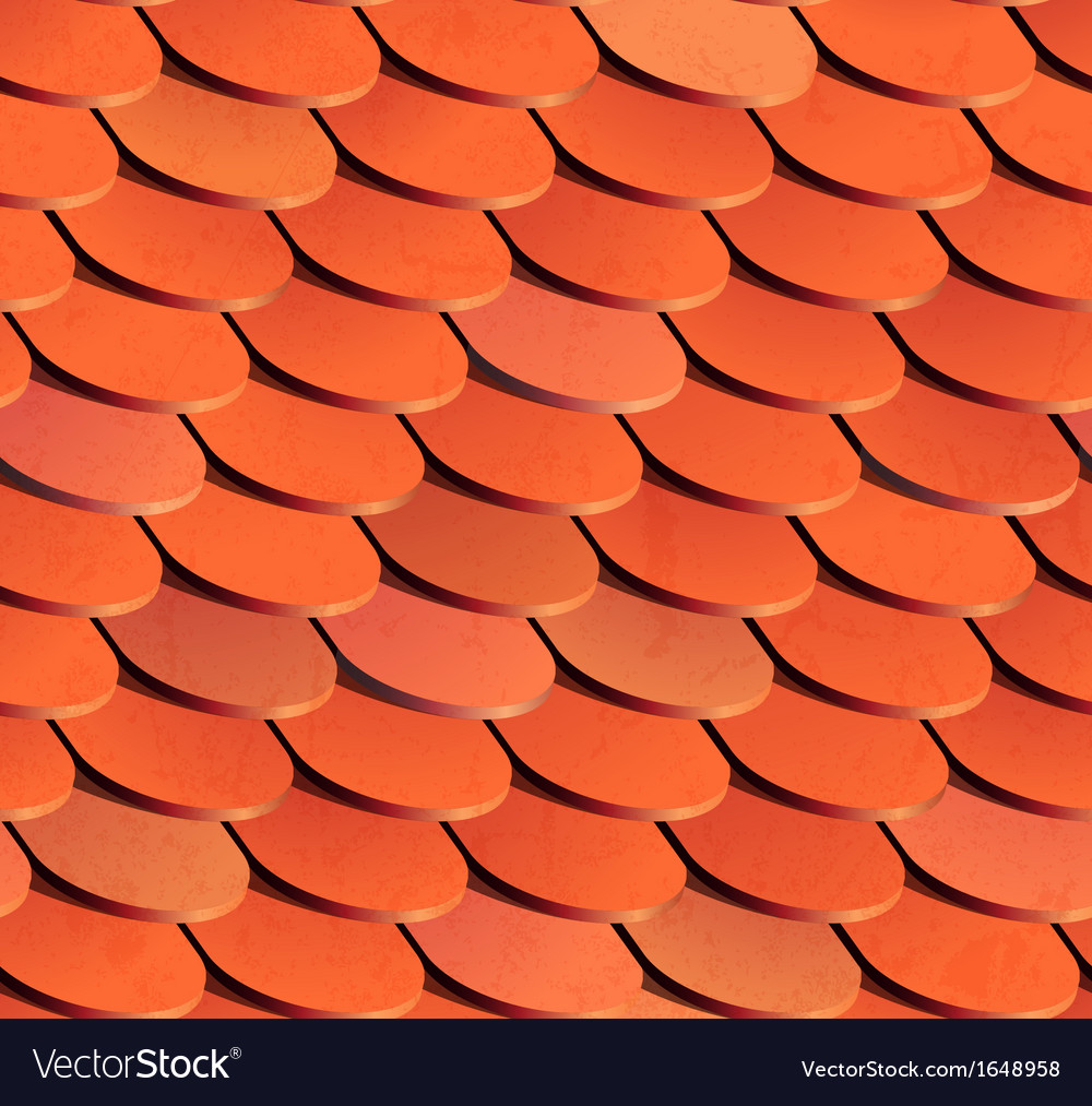 Seamless roof tiles background vector | Price: 1 Credit (USD $1)