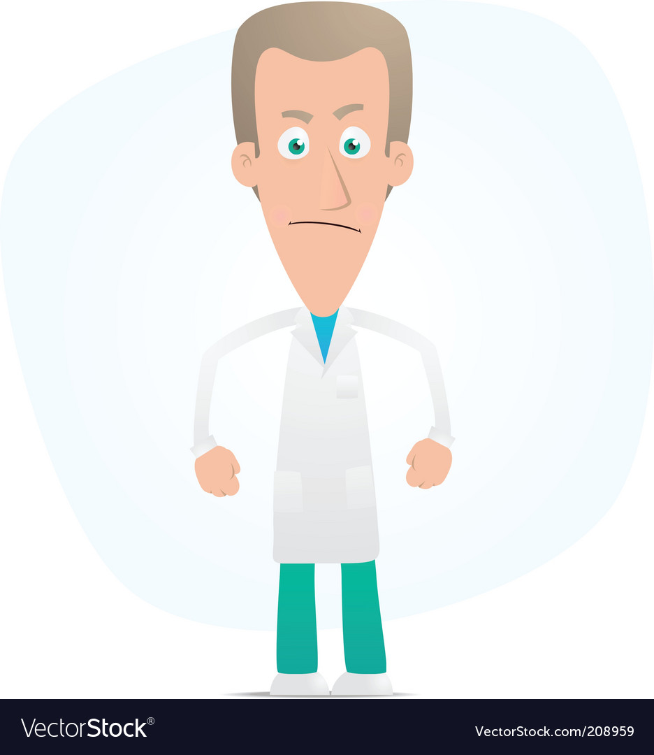 Angry doctor vector | Price: 1 Credit (USD $1)