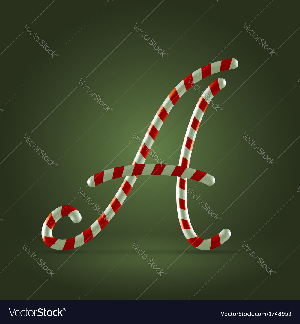 Candy cane abc a vector | Price:  Credit (USD $)