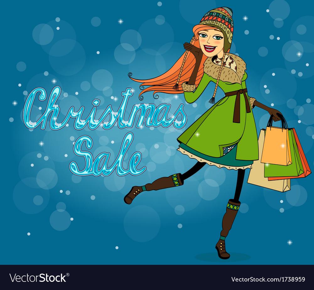 Christmas discounts vector | Price: 1 Credit (USD $1)
