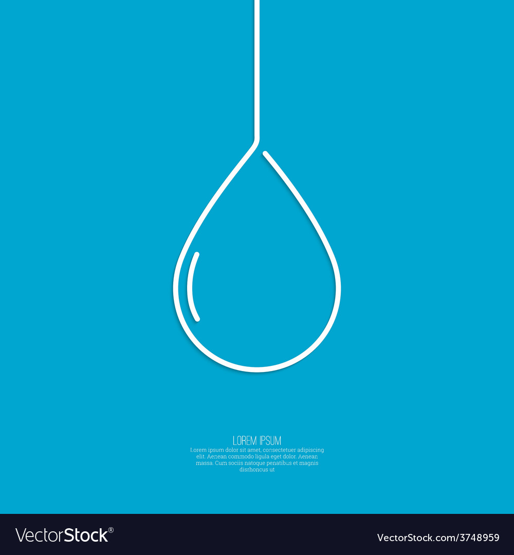 Falling drop vector | Price: 1 Credit (USD $1)
