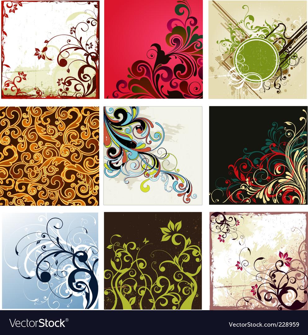 Grunge floral vector   Price: 5 Credit (USD $5)