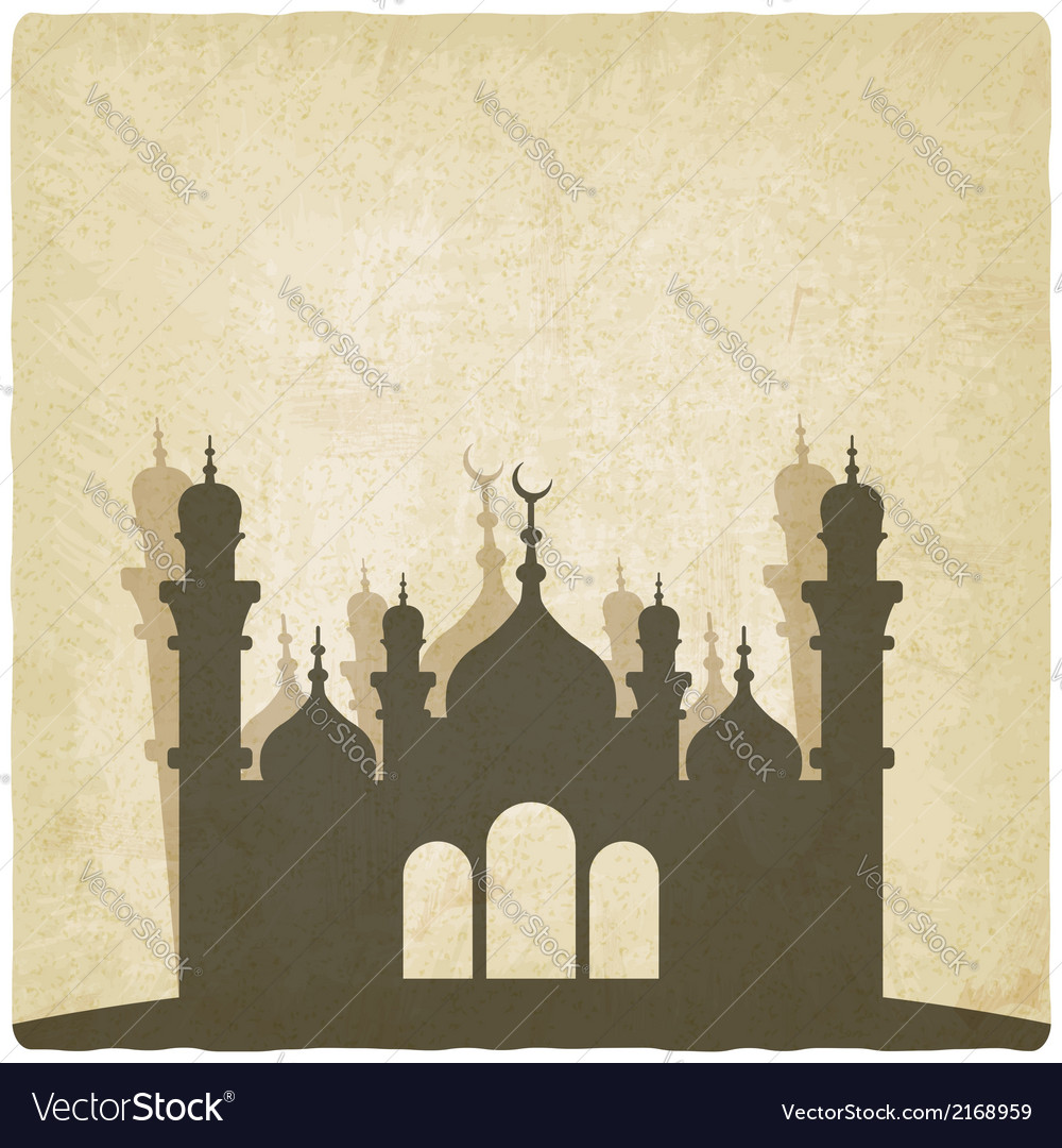 Islamic mosque old background vector | Price: 1 Credit (USD $1)
