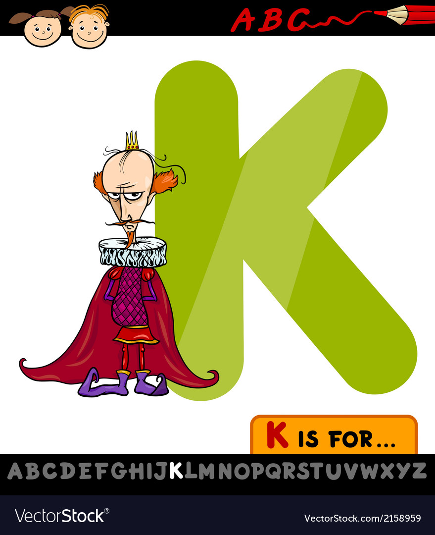 Letter k for king cartoon vector | Price: 1 Credit (USD $1)