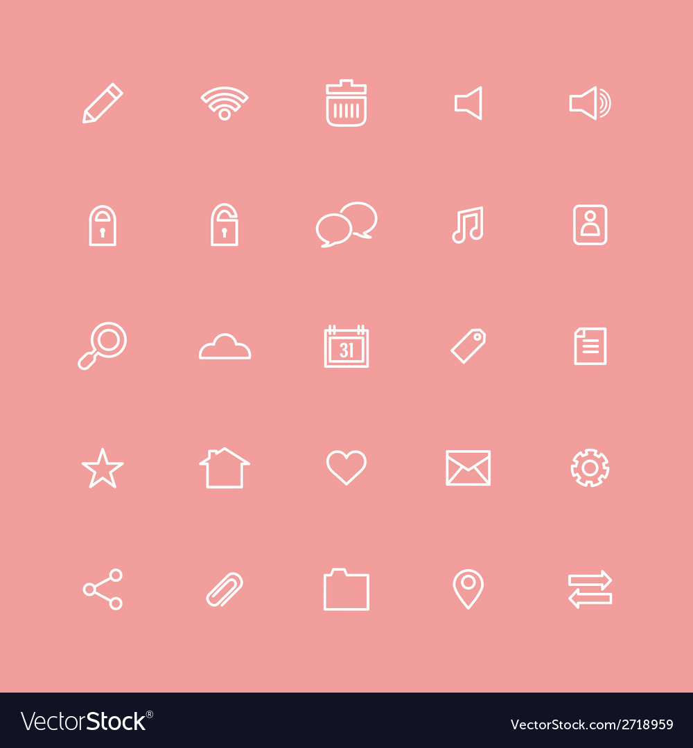 Line website icons set vector | Price: 1 Credit (USD $1)
