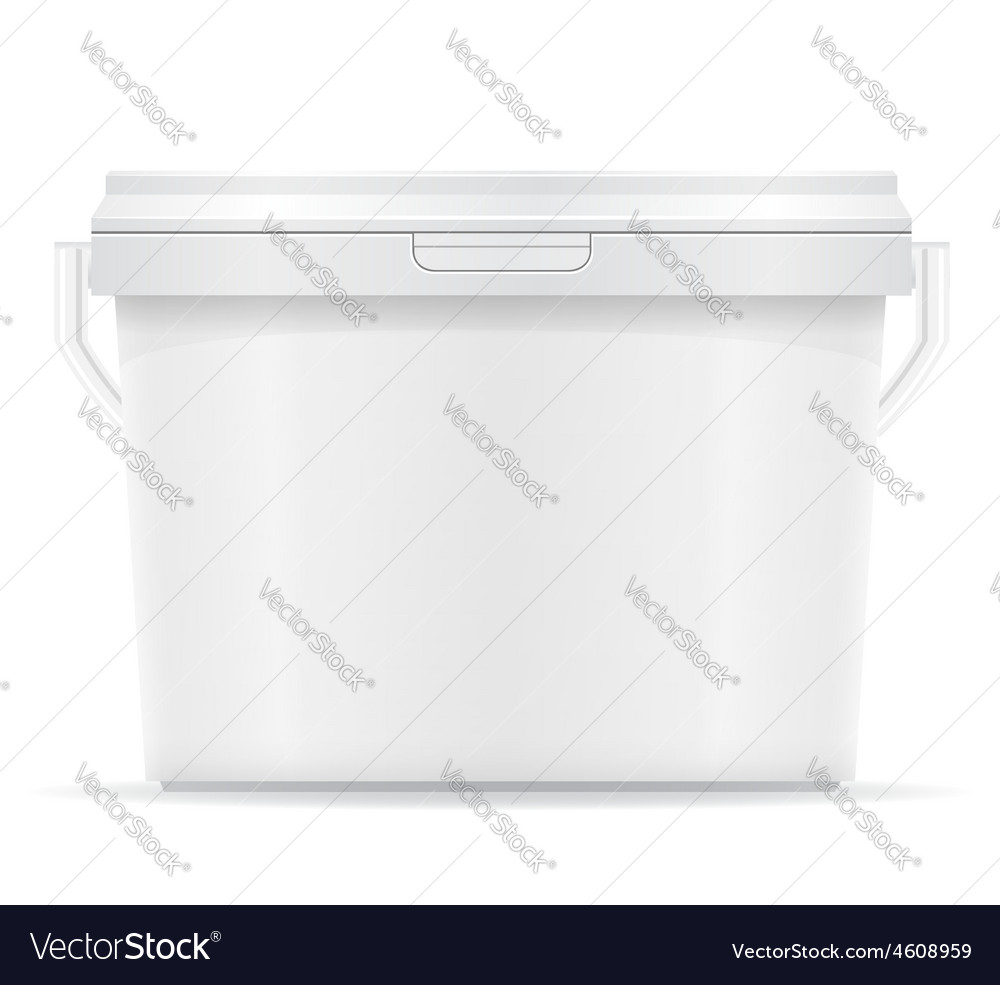Plastic bucket for paint 07 vector | Price: 3 Credit (USD $3)