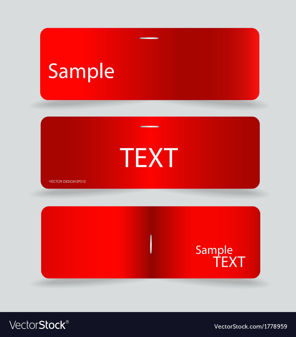 Set of various card notes ready for your message vector | Price: 1 Credit (USD $1)